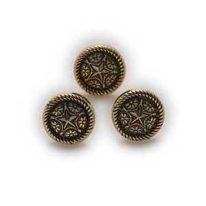5pcs Star Small Round Shank Metal Buttons Clothing Handbag Shoes Hats Decor 10mm