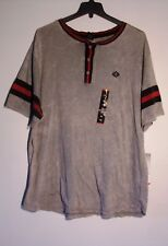 NEW MEN'S 4XL ENYCE LOGO MULTI-COLOR SHORT SLEEVE 3 BUTTON T-SHIRT $36 #1440