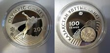 2011 Kazakhstan Large Silver Proof 100 Tenge 2014 Olympic Skating