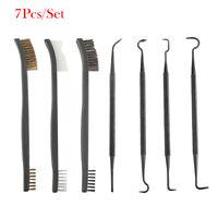 7Pcs/Set Gun Rifle Cleaning Kit Copper/Brass/Nylon Brush + Double-end Pick