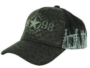 STRIKE Basecap Schildmütze Baseballcap Basemütze STERN STAR schwarz / weiß / rot