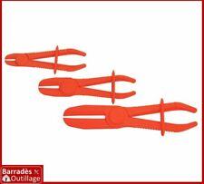 Jeu de 3 pinces à clamper tuyaux flexibles, durites freins, refroidissement