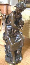 AN IMPORTANT 19 CENTURY FRENCH 34'' HIGHT BRONZE STATUE BY MATH MOREAU