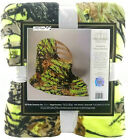 Camouflage The Woods Cashmere Throw Blanket Size Twin Lime