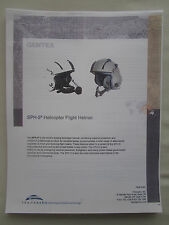 DOCUMENT RECTO VERSO TRANSAERO GENTEX SPH-5 HELICOPTER FLIGHT HELMET CASQUE