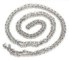 3ft Silver tone Findings Rolo Link opened Cable Chains 3.8mm Jewelry making  DIY