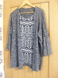 ladies thin 2 in 1 jumper,size 20,plus size,bonmarche,everyday/summer holiday