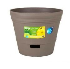 300mm Self Watering Plastic Pots x 6pcs  (Espresso)- Free Shipping, In&Outdoor