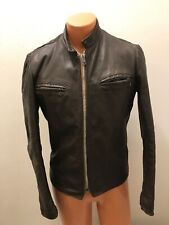 Vintage 70s Excelled Men's Cafe Racer Leather Motorcycle Coat Jacket Usa Size 38