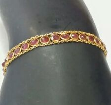 18k GOLD  bracelet with colored stones