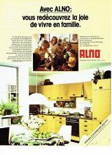 PUBLICITE ADVERTISING 0217  1978  les cuisines équipées encastrables Alno