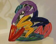 "David Gerstein ""Strokes Of Love"" Art Love Strokes Metal  Heart Sculpture"