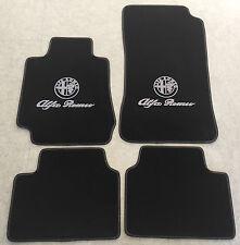 Autoteppich Fußmatten für Alfa Romeo Giulia 952 schwarz silber Velour Kunstleder