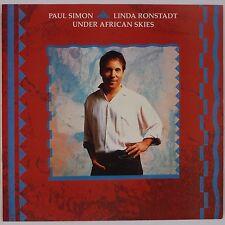PAUL SIMON, LINDA RONSTADT: Under African Skies USA Orig 45 w/ PS NM- Superb!