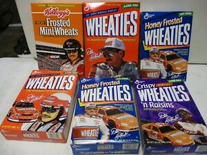 6 1990's Dale Earnhardt Wheaties Boxes Sealed