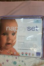 Nappy Set 12 Pk Cloth Diapers W/ 3 Covers Lrg 21-27 Lbs