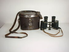 GERMAN ARMY NAVY ORIGINAL BINOCULARS WW1 GOERZ BERLIN 6X30 DRP LEATHER CASE
