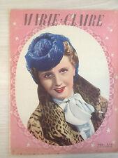 Magazine Marie-Claire n°150 12 Janvier 1940 Collection Vintage Fashion Magazine