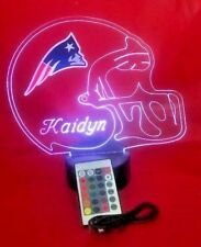 New England Patriots NFL Football Light Up Light Lamp LED and Remote Personalize