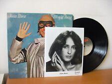 "JOAN BAEZ ""Blowin' Away"" Original PROMO LP + PHOTO from 1977 (PORTRAIT PR 34697)"