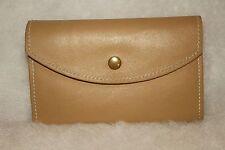 ARTISAN Beige Leather & Suede Large Organizer Wallet ))) NEW (((