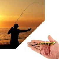 Shrimp Shaped Fishing Bait Lures With Hooks Octoplus Squid Fishing Accessor N7U1