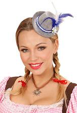 Kleiner Bayrischer Minihut blau NEU - Karneval Fasching Hut Mütze Kopfbedeckung