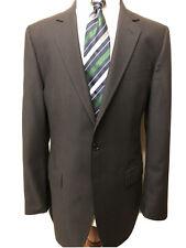 dolce gabbana suit 2pc striped size 42L black wool single vent front flat pants