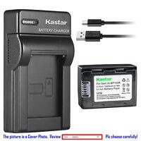 Kastar Battery Slim Charger for Samsung IA-BP105R IA-BP210R & amsung HMX-F800
