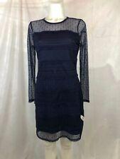 Michael Kors Navy Blue Lace Short Dress Women's Medium Petite NEW with Tags }