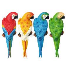Parrot Statue Lifelike Bird Resin Ornament Figurine Garden Lawn Sculpture Decor