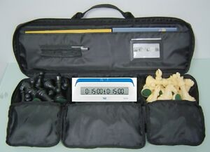 XXX CHESS PIECES BOARD BAG DIGITAL 1001 DGT 1001 CLOCK TIMER SET
