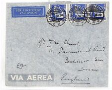 BF200 1936 DUTCH EAST INDIES Soerabaja GB Bexhill-on-Sea Airmail Cover