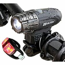 Blitzu Gator Reflectors 320 USB Rechargeable Bike Light Set POWERFUL Lumens FREE