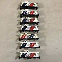 LL1 Lot of 7 Vintage Tyco HO Spirit of 76 Caboose Car Bodies - No Trucks Lot