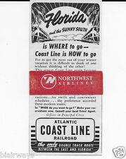 ATLANTIC COAST RAILROAD 1942 WHERE TO GO IS FLORIDA-COAST LINE HOW TO GO AD