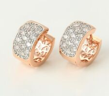 SALE 9ct 9K Multi Gold Filled Lady made with Swarovski Crystal Earrings 430m