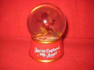 Valentine's Day Glitter Globe You've Captured My Heart Snow Glass Decoration Red
