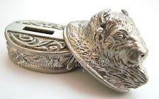 BISON  Set Finger Guard & Knife Pommel German Silver Bolster for Custom Knives