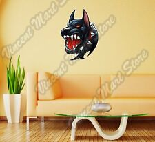 "Scary Evil Devil Black Hell Dog Wall Sticker Room Interior Decor 20""X25"""