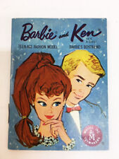 Vintage Mattel Toymakers Barbie & Ken Doll Clothes Fashion Booklet Book