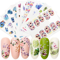 3D Nail Art Transfer Embossed Stickers 1Sheet Flower Decals Manicure Decor Tips