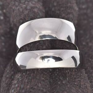 8/6mm Titanium Men Women Wedding Band High Polish Dome Top Promise Ring siz 5-12