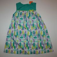 New Gymboree Girls Painting Pals Brushstroke Dress 3T NWT Greens Print