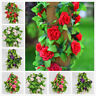 Artificial Fake Silk Rose Flower Ivy Vine Garland Wedding Party Home Decor Gifts