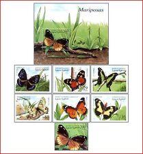 SAH99032 Butterflies 7 stamps and block MNH SAHARA 1999