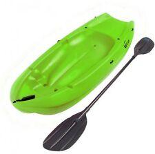 6' 1-Man Wave Youth Kayak w Paddle Green Fishing Sit Camping Kids Footrest NEW