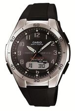 New CASIO WAVE CEPTOR WVA-M640-1A2JF Solar Multiband 6 Black Men's With Tracking