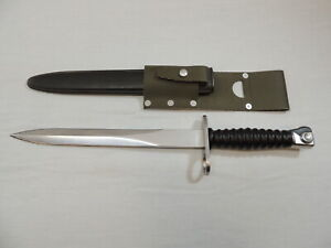 Swiss SIG PE57 Bayonet with Frog and Scabbard