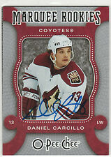 2008 08-09 O-Pee-Chee Autographed Buybacks #BBDC Daniel Carcillo RC on-card auto